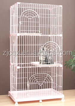 High Quality Large Stackable Cat Cage with Wheels
