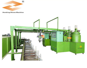PU shoe sole injection molding machine