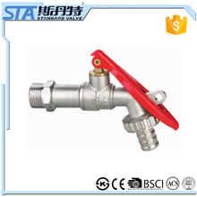ART.2006 Garden hose bib bibcock washing machine tap basin tap wall mounted brass ball bibcock cold water faucet ISO CE approved