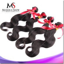 wholesale unprocessed body wave hair extension 70 300g excellent