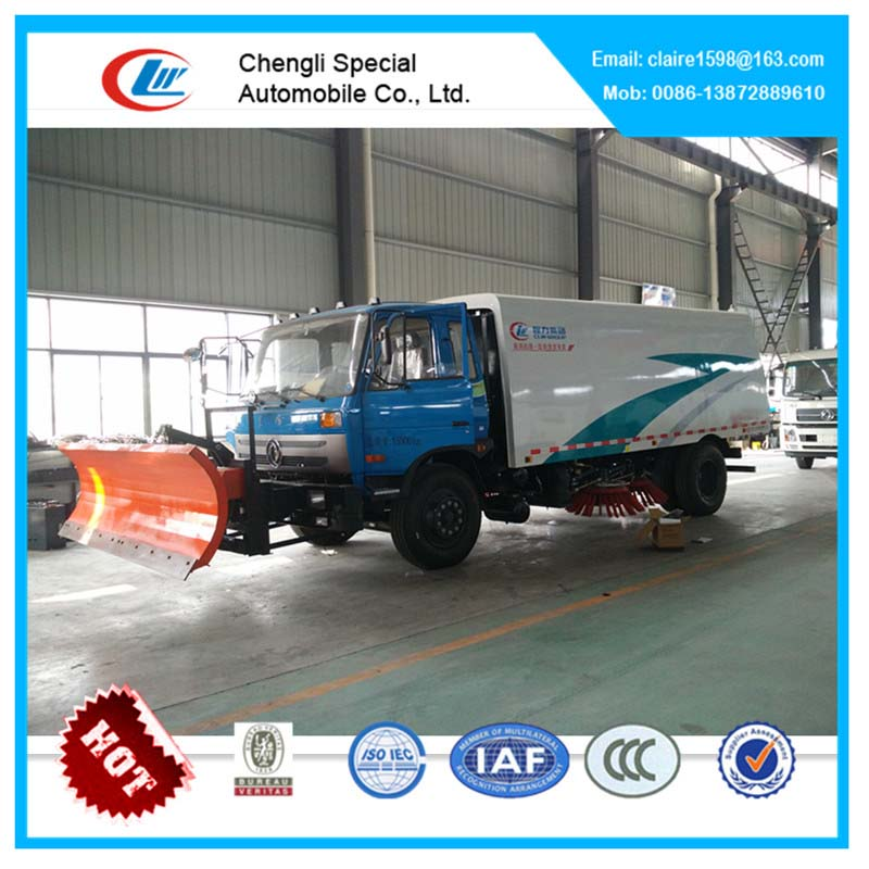 Road Sweeping Truck with Snow Shovel Floor cleaning machines