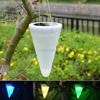 New item taper style solar garden led outdoor hanging light/The balcony garden decoration lights
