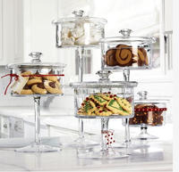 Wholesale the beautiful The glass pedestal Candy Jar