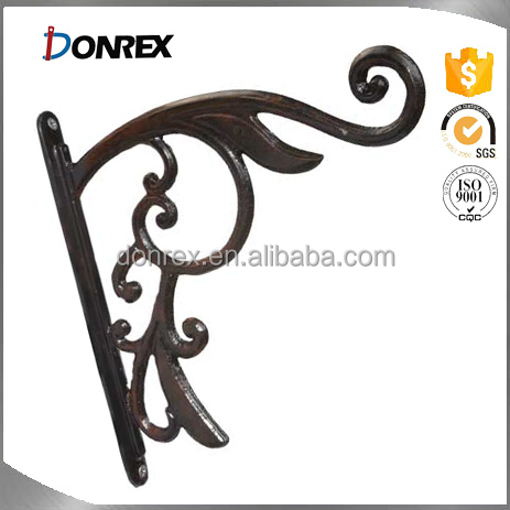 customized provide OEM service wall bracket for hanging basket