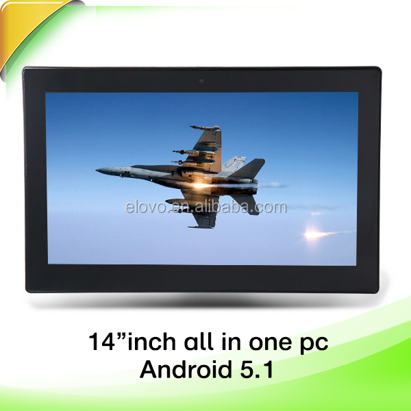 china 14 inch quad core android 5.1 cheap all in one pc