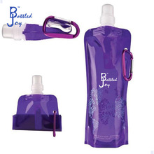 PE+PA+PET french bpa free bottled water brands/best selling foldable bottle