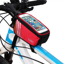 New Multifuction 1.5L Waterproof Bicycle Bags Cycling Bike Frame Front Tube Mobile Phone Bag For Mountain bike City Bike