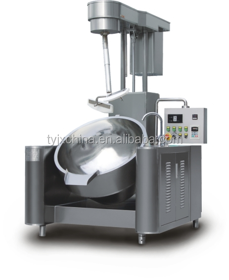 Industrial large automatic steam cooking pot with mixer