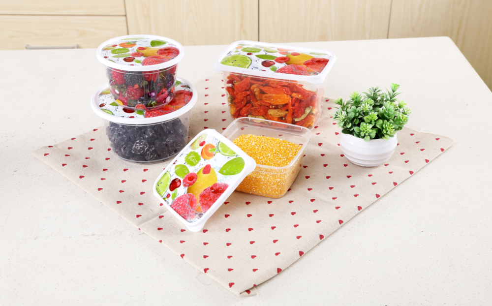 Colorful HAIICE IML logo Microwavable PP Transparent Leakproof Disposable Plastic Bento Lunch Box with lid