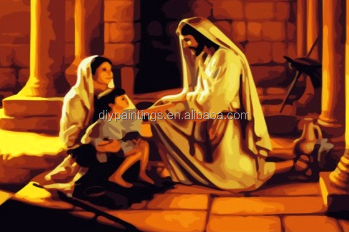 diy digital oil painting jesus christ oil paintings on canvas