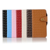 Knitting wallet leather case for iPhone 5 6 6plus, Button flip PU case for iPhone 5 6S