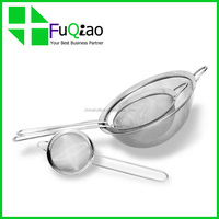 High Quality Cooking Tools food grade Fine Mesh Tea Mesh Strainer Colander Sieve