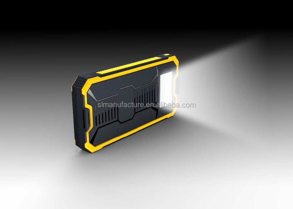 (sl)2015 New Arrival Solar Power Bank + LED Camping Light Universal Portable Solar Panel Charger Phone Backup Powers