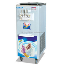 Commercial fruit ice cream maker machine with compressor