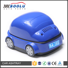 Multi-Colors Portable Smokeless Car Shaped Ashtray With LED Light