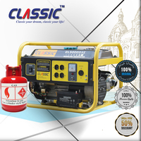 CLASSIC(CHINA) AC Single Phase Propane and Gas Generator, CE Approved Propane Backup Generator, Propane Electric Generator