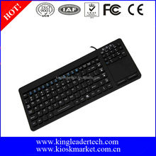 IP68 waterproof touchpad silicone industrial keyboard