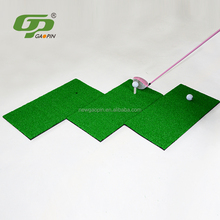 Portable mini golf swing mat with golf tee for golf training