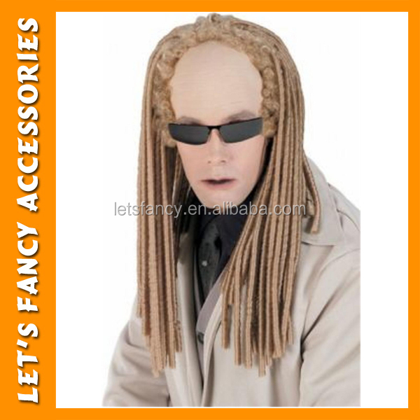 PGWG1336 Wholesale Men Halloween Party Wigs Matrix Twins Blonde Braided Dreadlock Wig