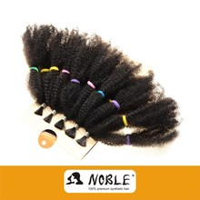 Rebecca Kinky Curly Synthetic Hair Extension Afro Noble Kinky Hair Weaving