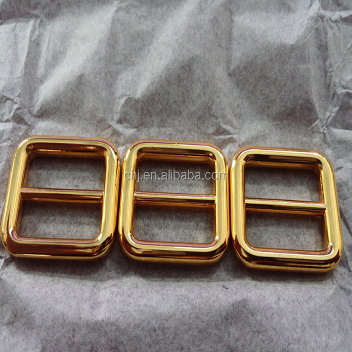 square shape leather gold color metal buckle for handbags