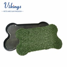 Durable Bone Shape pet potty indoor dog toilet pet toilet potty trainer puppy potty training pad grass mat tray