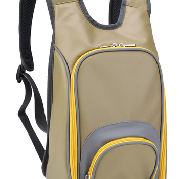 2 Person Picnic Backpack with padded strap cooler compartment and front pocket