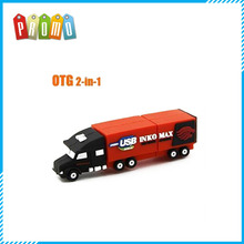 Cool Funny Cartoon Truck Container Micro OTG Mini USB Flash Drive Pen Drive Memory Stick for Smart Phone Laptopn Computer