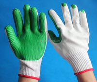 natural rubber coated cotton gloves safety working gloves