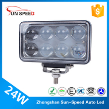 Original factory offroad 4D work light 24watt 8pcs * 3W epistar led auto lamp 4x4 hid spot lights