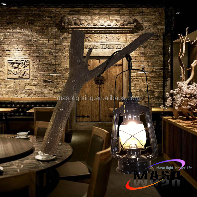 Antique Kerosene Lamp American Countryside retro New Designed Polyresin Wall Lamp for Coffee shop club home household Decoration