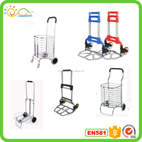 Lightweight aluminum foldable hand truck folding airport luggage trolley for sale