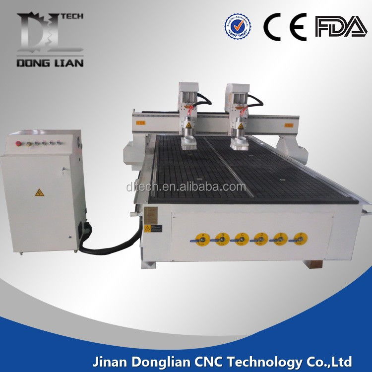 China supplier double spindle 5 axis cnc router mini 1212 dsp control system with discharge system