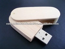 Swivel usb stick wood 512 mb