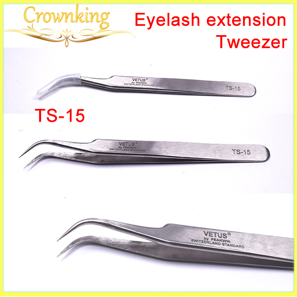 Popular size eyelash tweezer TS-15 , eyelash extension tweezer