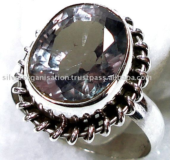 Color Change Alexandrite Stone, Sterling Silver Ring