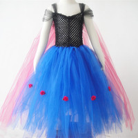 2014 newest fashion wholesale hot Frozen dress with lace
