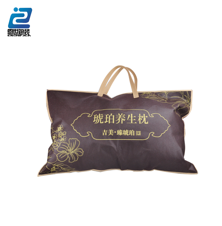 customized logo nonwoven plastic Pvc Wholesale high quality eco friendly packaging pillow bag