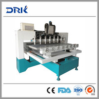 SIGN DRK1325 Multi Heads Wood CNC Router Machine/DSP Sculpture Wood Carving CNC Router Machine/ Cheap CNC Wood Carving Machine