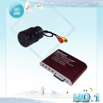 mini usb car dvr support 2pc wired cameras and 32GB sd card