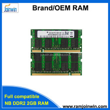 Factory direct laptops 128mb*8 16chips memory ram ddr2 2gb notebook