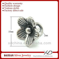 XD KM061 925 sterling silver beautiful flower charms thai silver charm