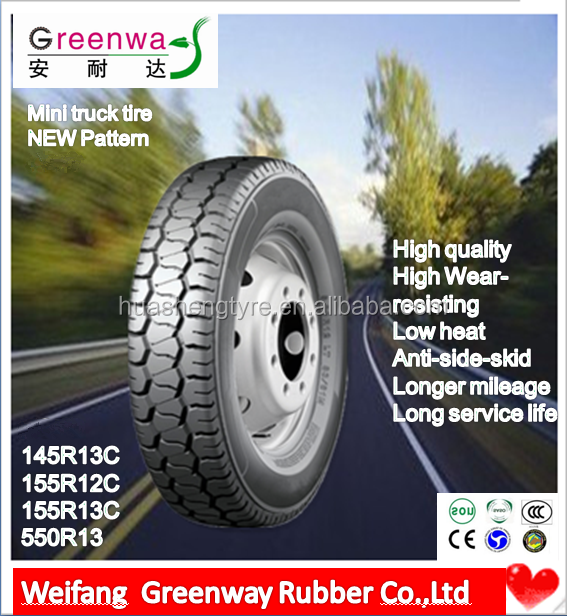 China factory NEW Designed TBR tires 145R13C 155R12C 155R13C 5.50R13 with high quality Quality