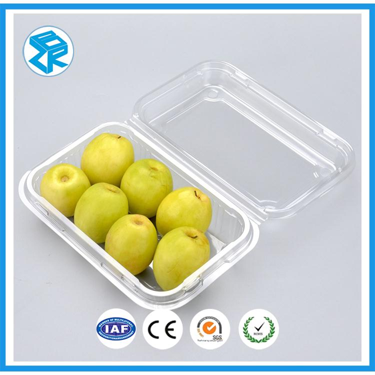 disposable plastic fruit container box pet packaging basket