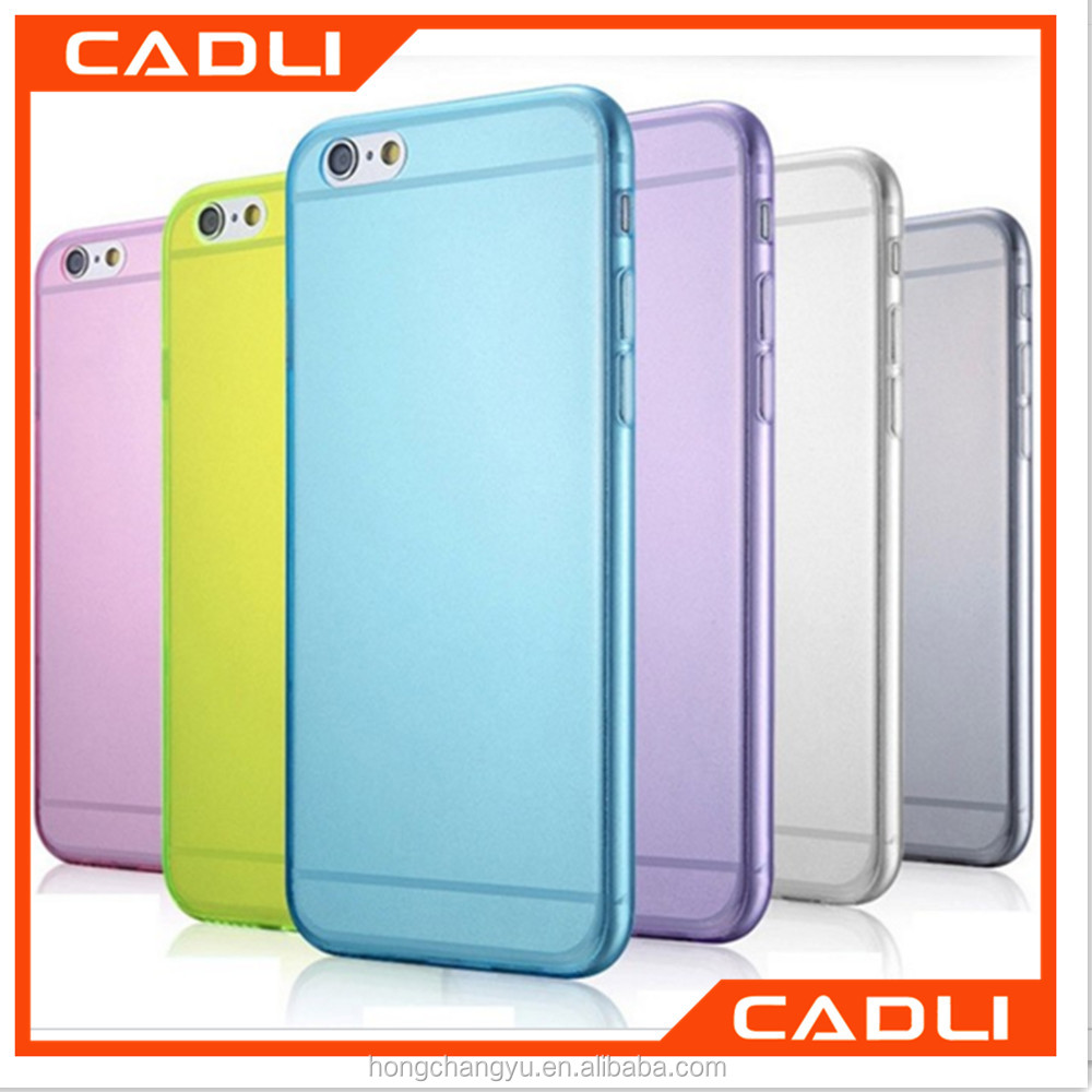 Ultra Thin Slim Cover Transparent Candy Color Soft TPU Silicon Phone Case for Iphone 6s 6 plus