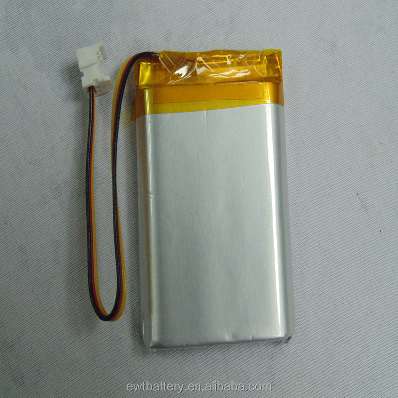 li-ion Lithium 803548 3.7V 1500mAh prismatic polymer rechargeable Lipo battery with NTC Thermistor