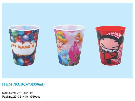 2015 3D Customized Lenticular Plastic Cup With Lid And Straw/ Plastic Drinking Cup
