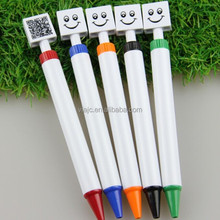New novelty ball pen with smile face and QR Code
