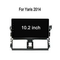 "10.1"" HD Touch Screen Double Din Android OS Dvd For Toyota Vios / Yaris 2013 Car Dvd Player with Mirror-link"
