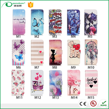 3D Color Printing Craft Cross Texture Wallet leather mobile phone case for iphone 7/ 7plus